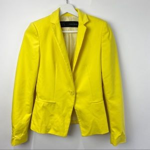 Zara Basic yellow blazer